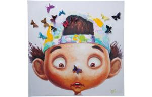 Картина Touched Boy with Butterflys 100x100